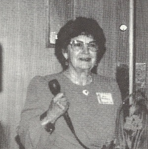 Arline A Arceneaux is awarded the Society for Louisiana Irises highest award, The Distinguished Merit Award