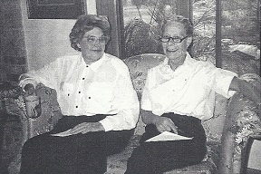 Faenelia Hicks and Laurel Bridgman at an SLI Board Meeting in 1980