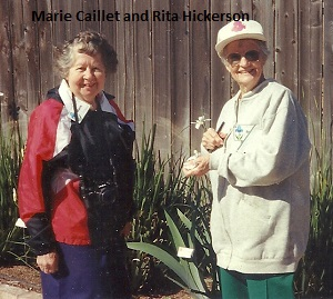 Marie Caillet and Rita Hickerson