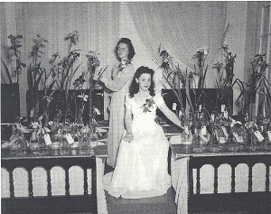 Student of the Home Management program at the University of Louisiana at Lafayette helping with the annual SLI show in about 1948